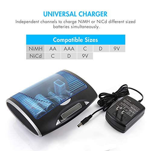 Buy smart battery charger aa aaa d
