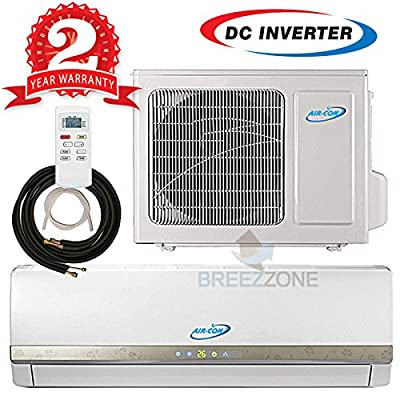 Ductless Mini Split DC Inverter Air Conditioner Heat Pump System - 208-230 Volt with 16ft Line Set