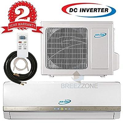 Ductless Mini Split DC Inverter Air Conditioner Heat Pump System - 208-230 Volt with 16ft Line Set