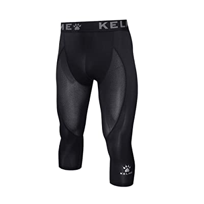 Kelme Men's 3/4 Compression Pants Baselayer Cool Dry Tights