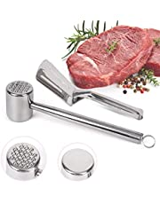 Samshow Meat Tenderizer and Food Clips Set - Stainless Steel Meat tenderizer Needle Mallet, Steak Bench Clamp, Food Clip for Kitchen, BBQ
