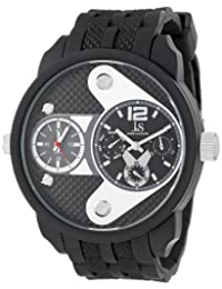 Joshua & Sons Men's JS52BK Black Multi-Function Watch