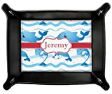 Dolphins Genuine Leather Valet Tray (Personalized)