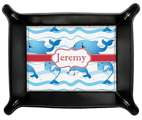Dolphins Genuine Leather Valet Tray (Personalized) by RNK Shops