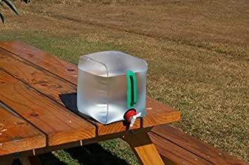 Recipiente de agua plegable de 10L 20x20x25cm Collapsible 10L Water Carrier para acampada, camping,