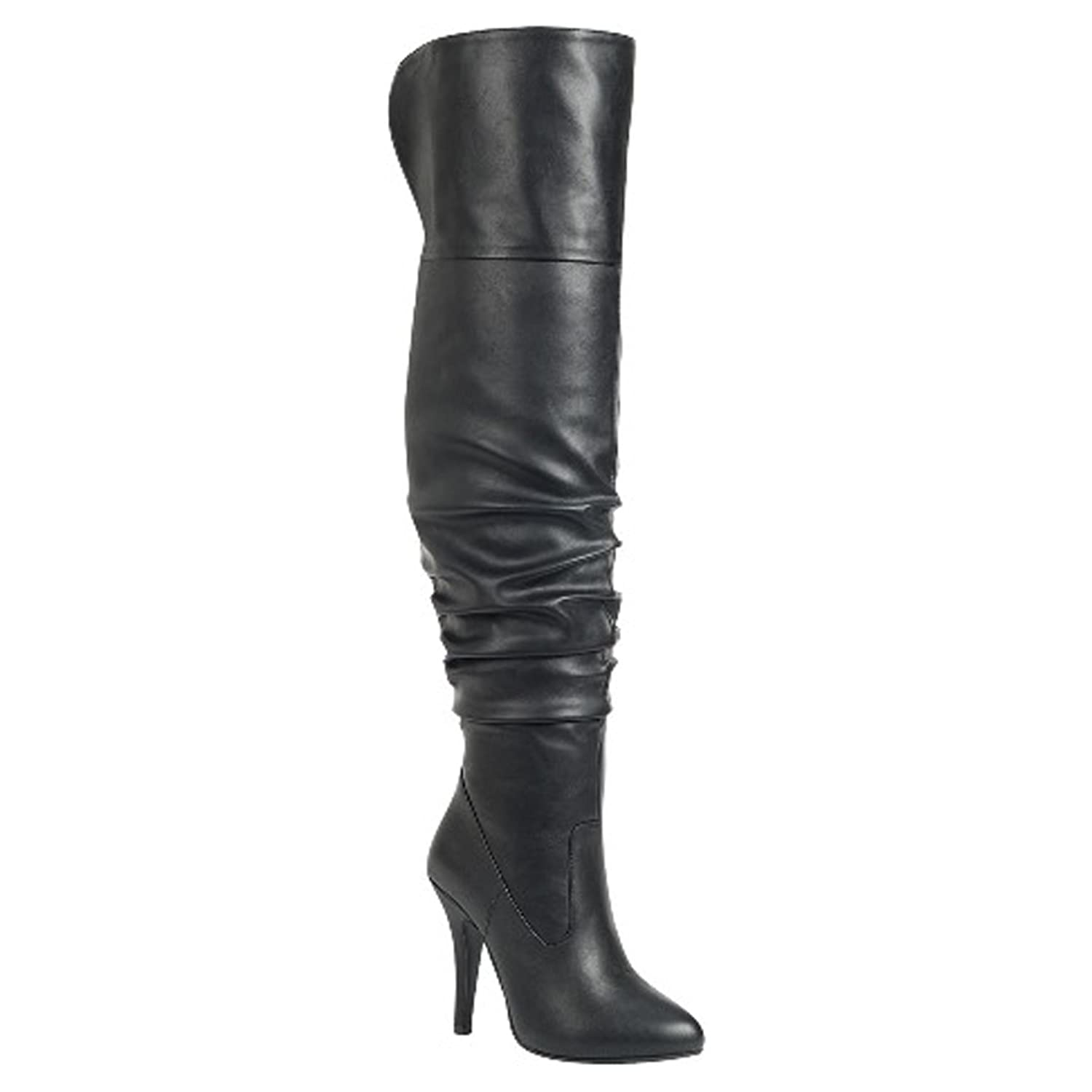 Women's Sexy Pull On Slouchy Knee-High Boots - DeluxeAdultCostumes.com