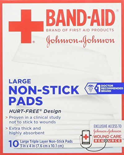 Band-Aid Waterproof Pads Large 2.875 in x 4 in - 6 ct, Pack of ()