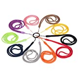 17 Inches Nylon Cord Neck Lanyards for Cellphones, Phone Cases, Cameras, Keys, Badge Holders, Name Tags, Flashlights, Torches, Media Players (10 Pack in 10 Assorted Colors)