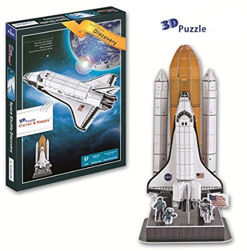 Liberty Imports 3D Puzzle DIY Model Set | Worlds Greatest Architecture Jigsaw Puzzles Building Kit (Space Shuttle) ()