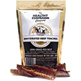 The Healthy Companion Company All Natural Dog and Cat Treats Grain-Free Gourmet for Overall Health Joint Support Improves Teeth and Gum Health Training Treats (Beef Trachea, 12 oz)