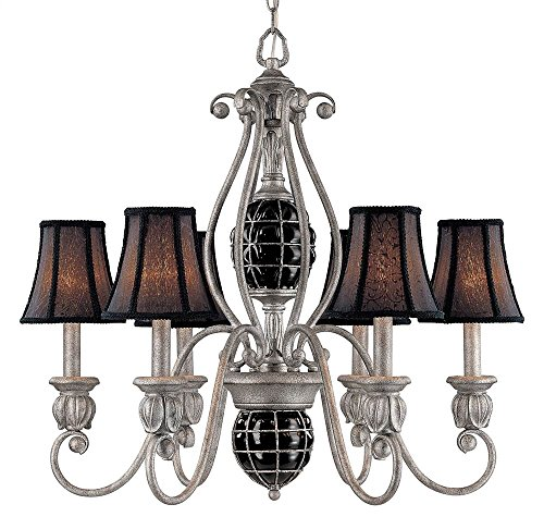 Argento Bronze Finish (Catturatto 6-Light Chandelier in Argento Negro Finish)