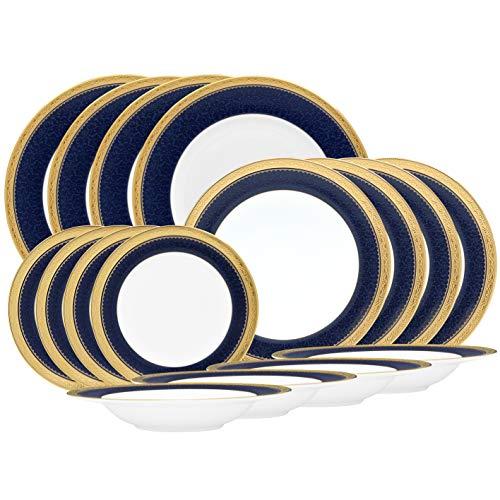 Noritake Odessa Cobalt Gold 16-Piece Set in Blue/White