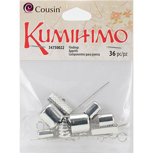 36 Piece Mix (Cousin 34750022 36 Piece Metal Kumihimo Findings Mix,)