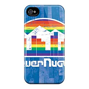 Durable Denver Nuggets Back Case/cover For Iphone 4/4s