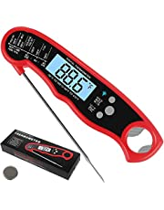 2 in 1 Digital Instant Read Meat Thermometer with Bottle Open, Reayouth Best Meat Thermometer for Kitchen Cooking,Waterproof with Backlight and Magnet, Food Thermometer Ideal for BBQ with Meat Probe