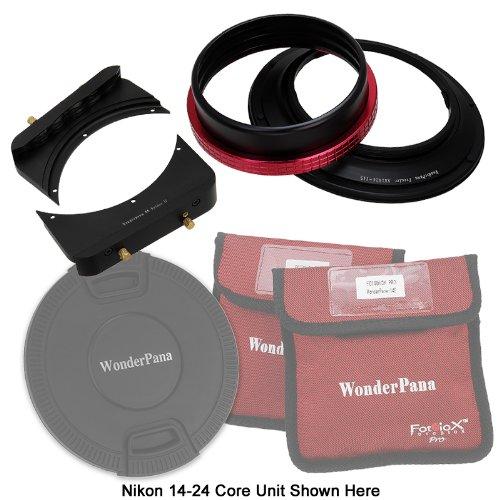 WonderPana FreeArc Core Filter Holder with Lens Cap and 66 Brackets for Nikon 14-24mm AF-S Zoom Nikkor f/2.8G ED AF Lens