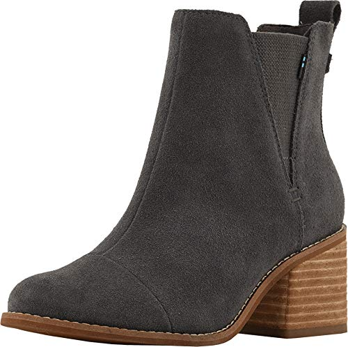 TOMS Womens Esme Casual Booties Shoes, Grey, 10