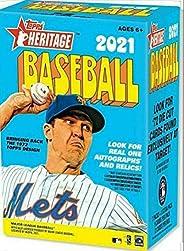 Topps 2021 Heritage Baseball Blaster Box 8 Packs Per Box