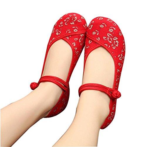 singole donna donna ricamate 4 da da casual scarpe Nuove retrò Scarpe YAqFTc