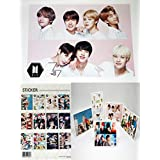 BigHit Entertainment BTS Bangtan Boys(N) - 12 PHOTO POSTERS(A3 Size Bromide) + 5Stand Photos(4 x 6 inches)+ 1 STICKER