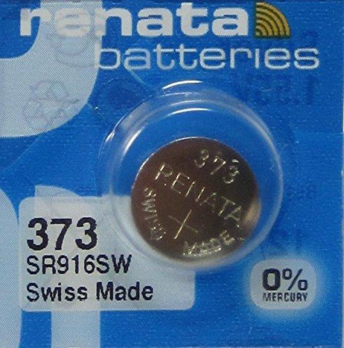 Renata 373 SR916SW V373 GP373 D373 617 SR68 Silver Oxide Mercury Free Electronic Battery x 1