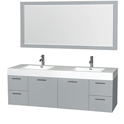 df4f75a85d5 Wyndham Collection Amare 72 inch Double Bathroom Vanity in Dove Gray ...
