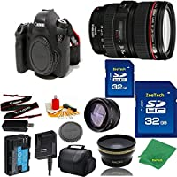 Great Value Bundle for 6D DSLR – 24-105MM L + 2PCS 32GB Memory + Wide Angle + Telephoto Lens + Case