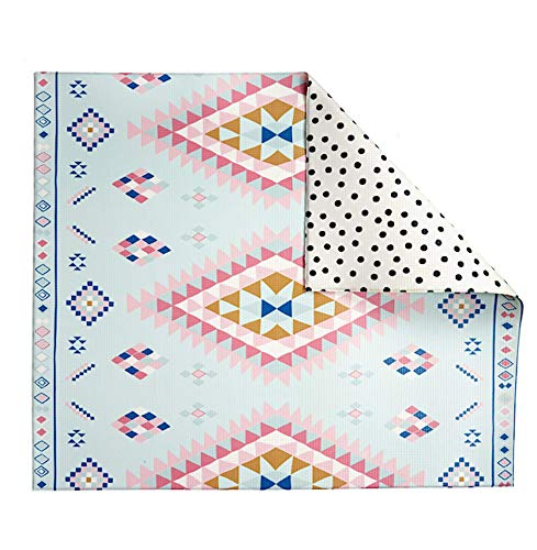 Play with Pieces, Reversible Play Mat, Moroccan Rug Plus Polka Dot