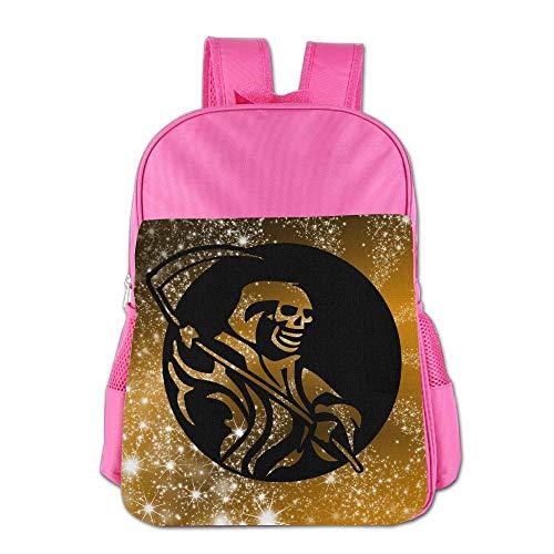 School Children'S School Bag Deathmann Cute Lightweight Backpack Or Travel Bag Pink ()