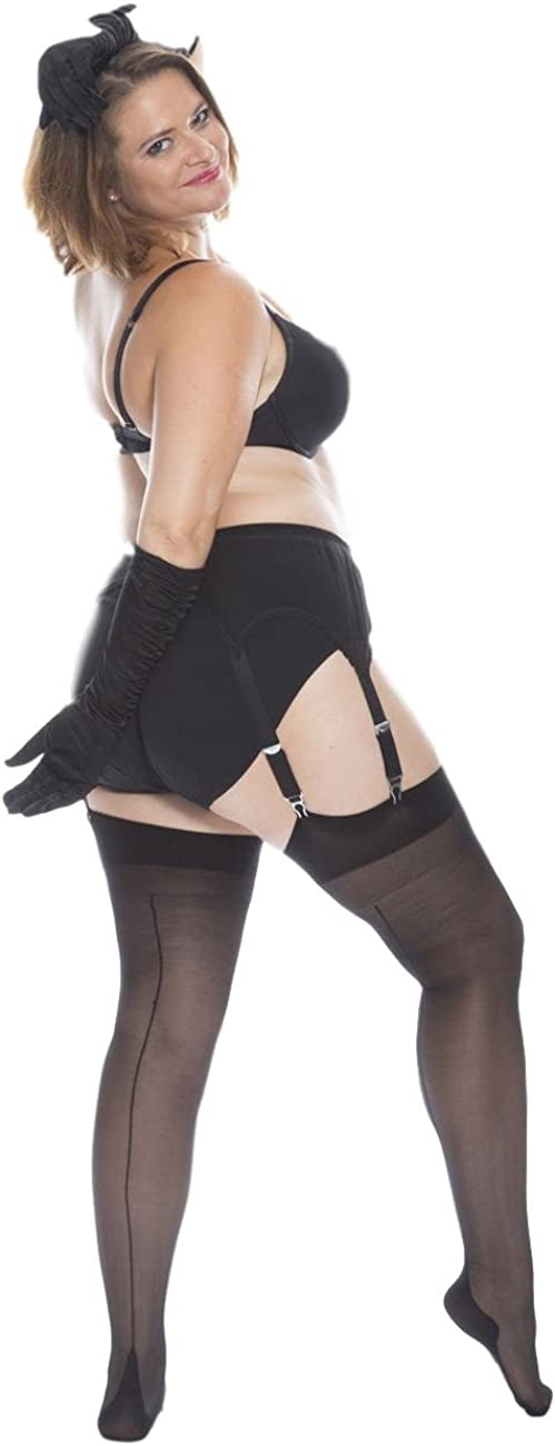 All Woman Plus Size Seamed Stockings Magic Lady 20 Denier PACK OF 3