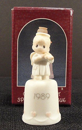Precious Moments Thimble - Oh Holy Night - 1989 Issue (Enesco Thimble)