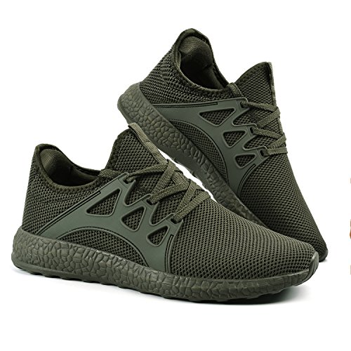 971a3b34cf6 Troadlop Mens Breathable Sneakers Running Shoes Mesh Lightweight Fashion  Gym Outdoor Walking Athletic
