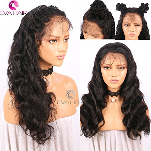 13x6 Lace Front Human Hair Wigs for Black Women Pre plucked Brazilian Virgin Hair 150 density Lace Front Wig Glueless Body Wave Front Lace Wigs with Baby Hair (14 Inch,150 density,13x6 Lace Front Wig) by EVA HAIR (Image #5)