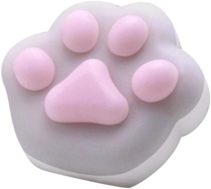 FreshZone Squishyかわいい猫の手Squeeze Healing Fun Relieve Stress Toyギフト グレー