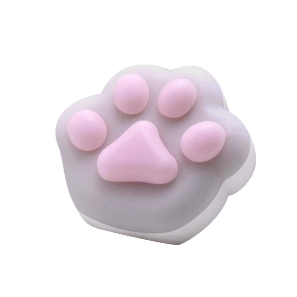 FreshZone Squishyかわいい猫の手Squeeze Healing Fun Relieve Stress Toyギフト B0774BPW8L グレー
