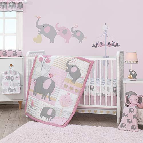 (Bedtime Originals Eloise 3-Piece Crib Bedding Set, Pink)