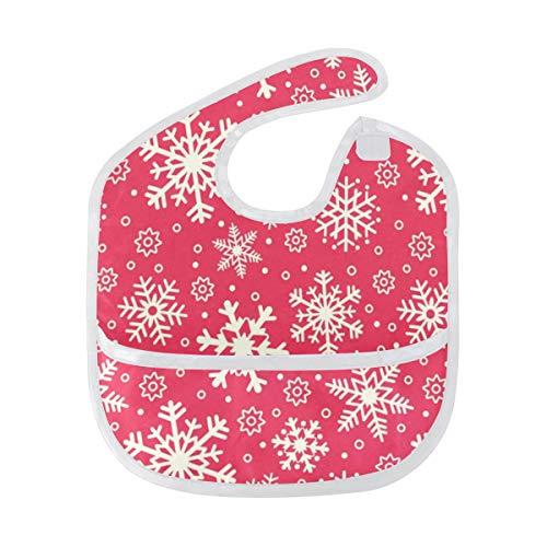 Baby Bibs Snowflake Christmas And New Year Large Drool Unisex Waterproof Drooling Bib/Smock
