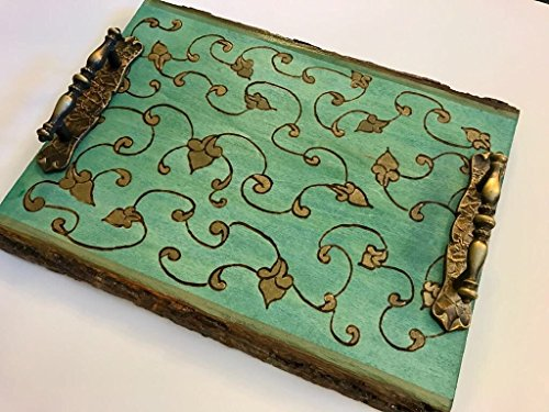 A Midsummer Nights Dream Handmade and Handcrafted Decorative Wooden Coffee Table Tray - Ottoman Tray - Vanity Tray - Elegant Wood Home Or Office Decor Accent And Perfect For Wedding Accessory