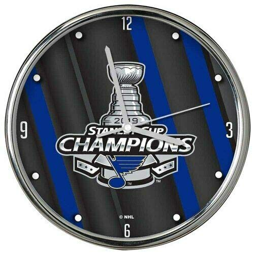 The Memory Company St. Louis Blues 2019 Stanley Cup Champions 12'' Chrome Clock