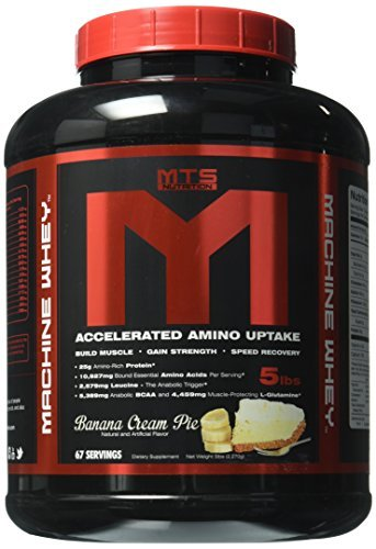 Hard Fast Banana (MTS Nutrition Machine Whey, Great Tasting Protein for Building Muscle, Banana Cream Pie, 5 Lbs (2270g) by MTS Nutrition)