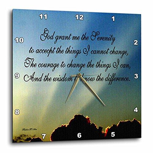 3dRose dpp_9200_2 The Serenity Prayer-Wall Clock, 13 by 13-Inch