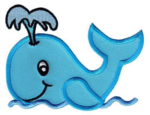 PatchMommy Iron On Patch, Whale - Appliques for Kids Children ()