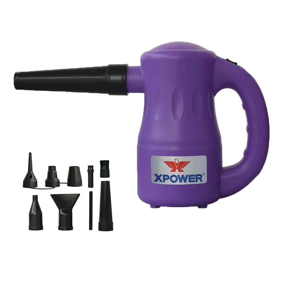 Purple XPOWER Portable Multipurpose Pet Dryer Electric Duster, 2.7 lb, Purple