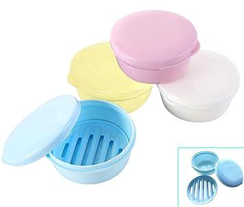 Amazon.com: Jabonera de plástico para colocar en el baño ...