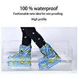 Rain Shoes Cover for Boys and Girls Cute Waterproof Slip-Resistant Kids Cycling