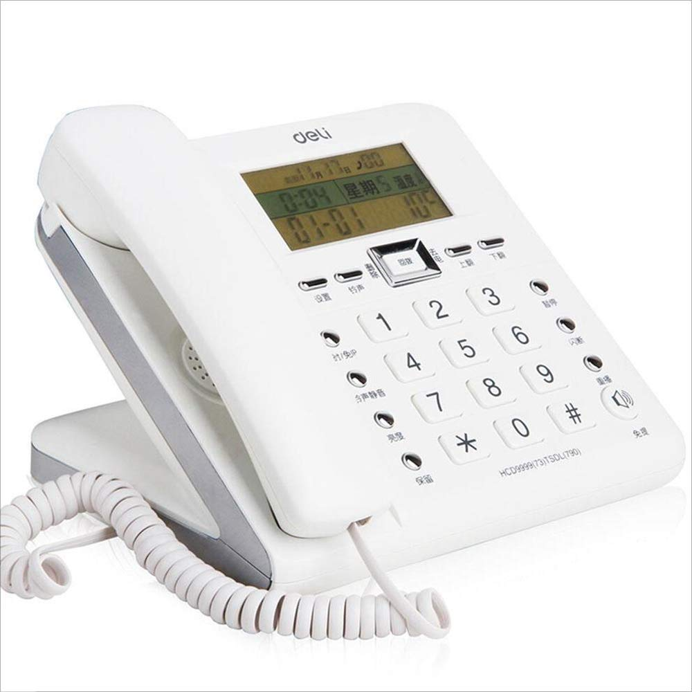 LCM Wired Telephone/landline, Multi-Function Desktop Digital Caller ID Telephone for Home Office Business by LCM