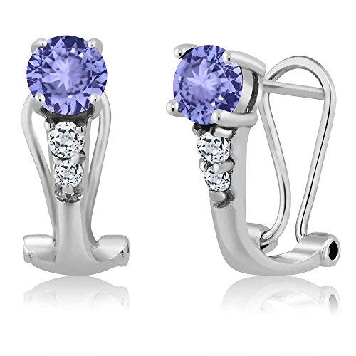 Diamond 925 Sterling Silver Earrings - 6
