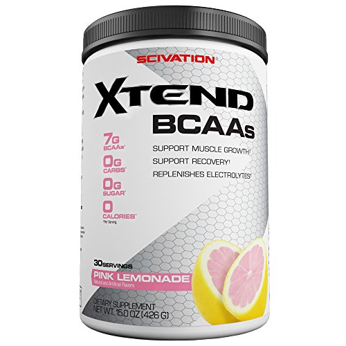 Scivation Xtend BCAA Powder, Branched Chain Amino Acids, BCAAs, Pink Lemonade, 30 Servings