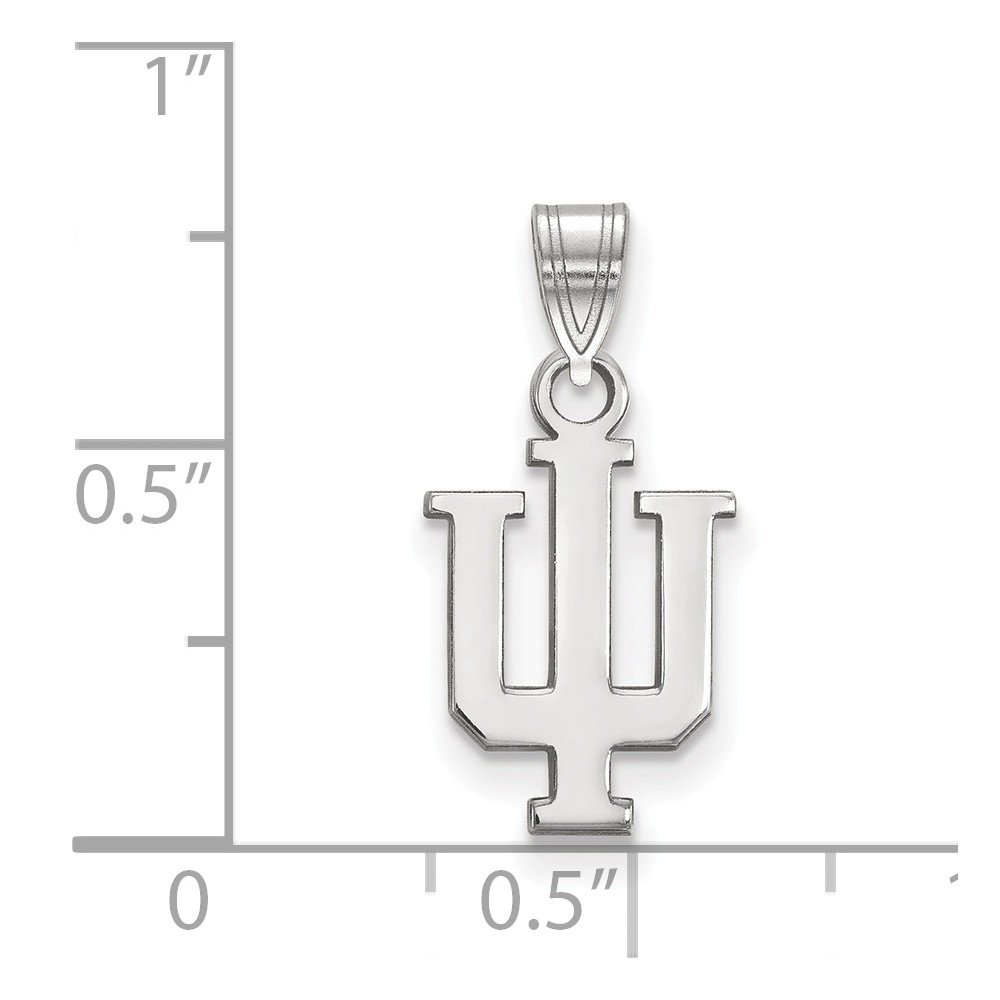 10mm x 19mm Solid 925 Sterling Silver Indiana University Small Pendant