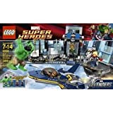 Toy / Game Cool Lego Hulk Helicarrier Breakout 6868 - 4 Flick Missiles And Opening Cockpit W/ Blast Function